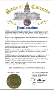 Colorado Proclamation