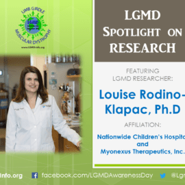 LGMD RESEARCHER: Louise Rodino-Klapac, Ph.D
