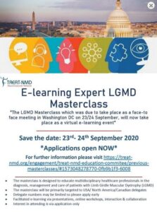 E-learning Expert LGMD Masterclass --   TREAT-NMD @ Virtual