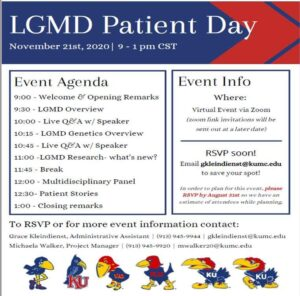 LGMD Patient Day 2020 @ Virtual Event via Zoom